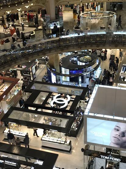 Shopping mall lafallete france paris photo