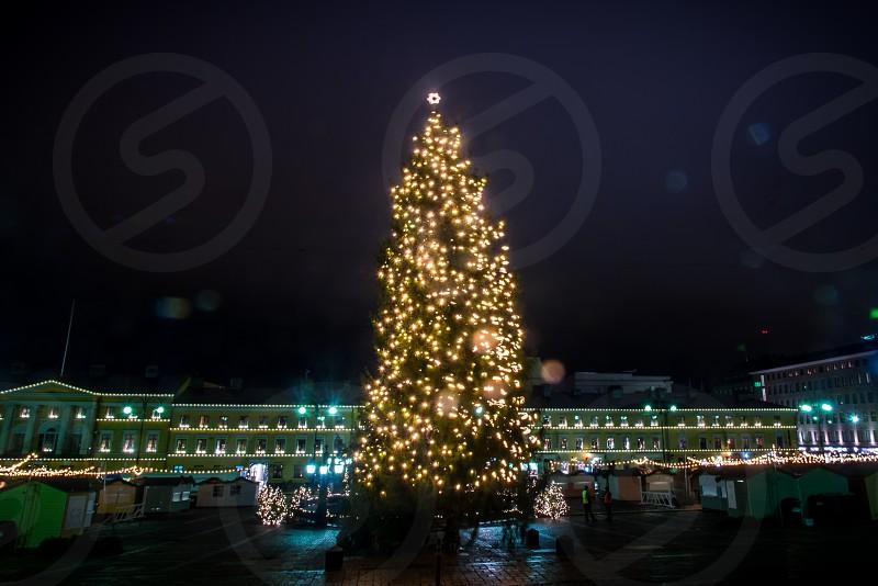 The senate market square on christmas time. photo