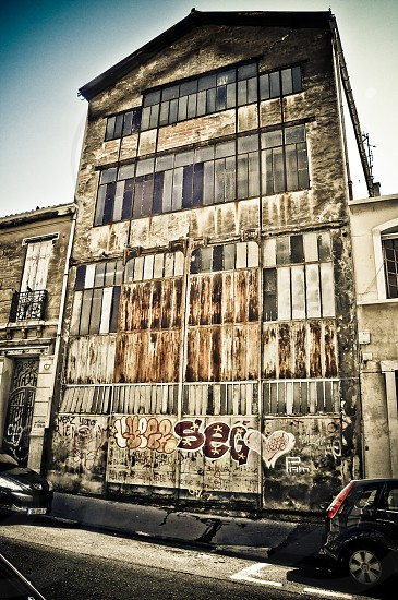 Old shed in Marseille (France) photo