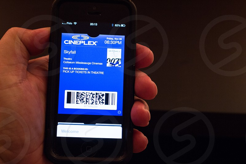 Checking movie ticket  photo