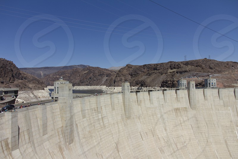 Hoover Dam seen from the side  photo