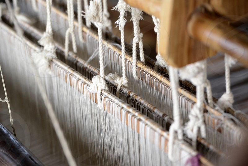 a traditional weaving workshop Factory near the Village of Phaung Daw Oo at the Inle Lake in the Shan State in the east of Myanmar in Southeastasia. photo