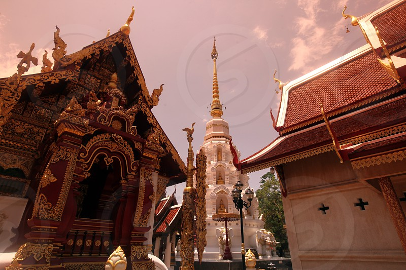 the Wat Phra Kaew Temple in the old town of the city of Chiang Rai in the north provinz of chiang Rai in the north of Thailand in Southeastasia. photo
