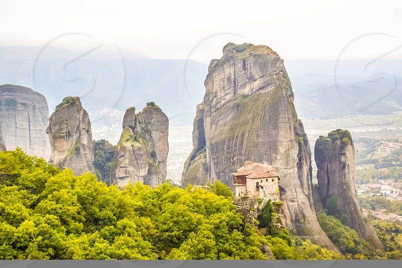 View Of Meteora Monastery In Greece photo