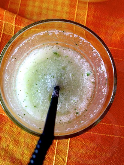 Dessert Smoothie Mint Lime Ice Perfection Straw Summer Lake House Camp photo