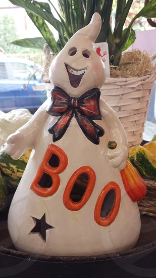 white Boo Ghost porcelain decor photo