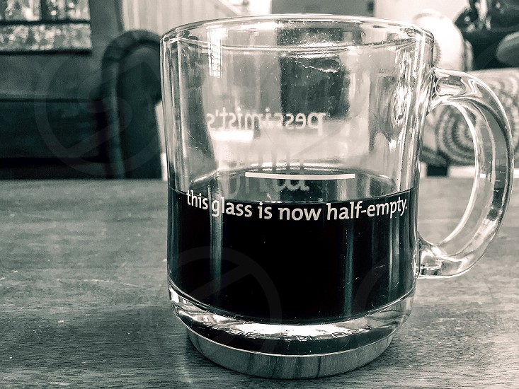 This glass is now half empty. photo