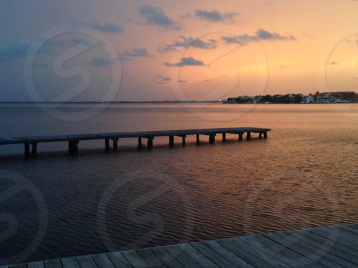 Summer sunset Peace Relaxing Lagoon photo