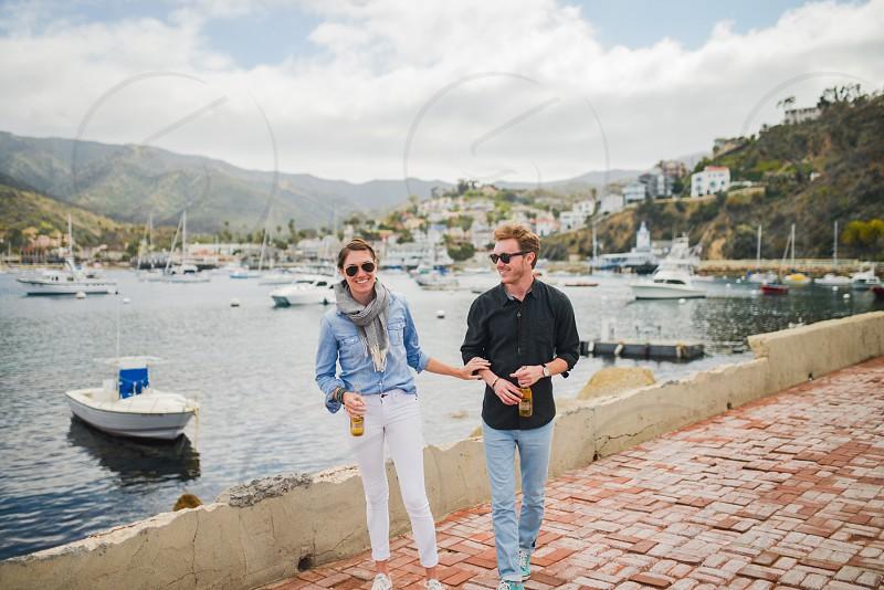 lifestye couple catalina tourists photo