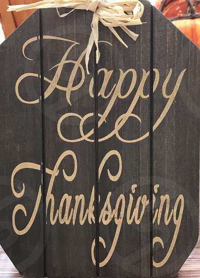 Happy thanksgiving sign! photo