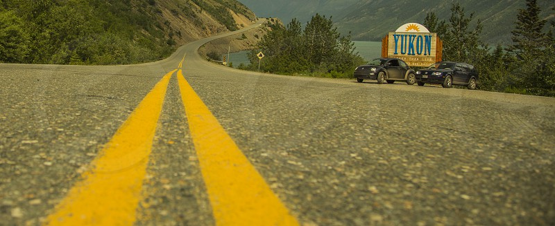 The road form Skagway into the Yukon Territory.  photo