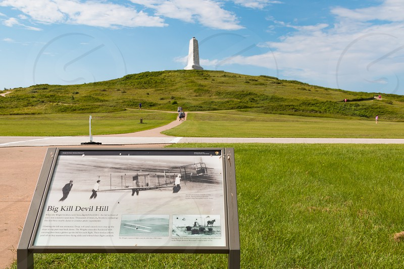 Wright Brothers National Memorial at Kill Devil Hills in North Carolina Outer Banks.  photo