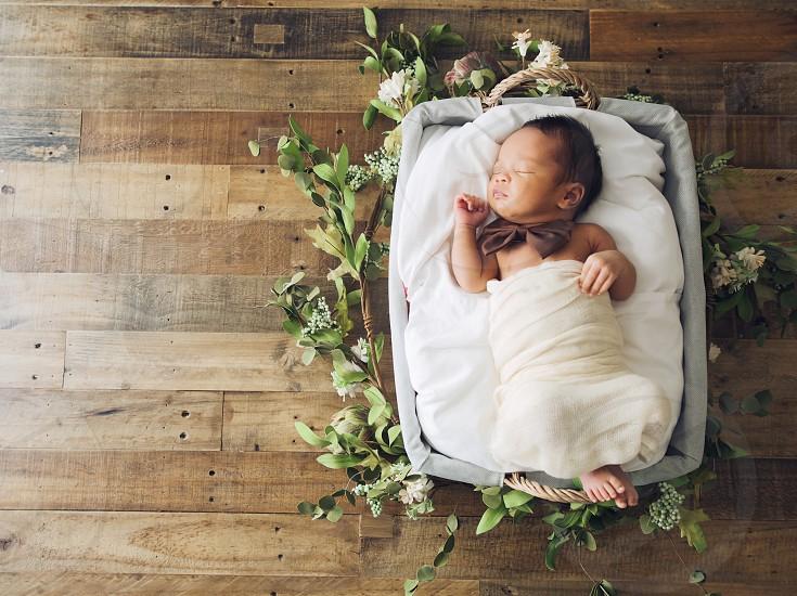 Portrait Baby Newborn Love Family Rustic Sleep photo