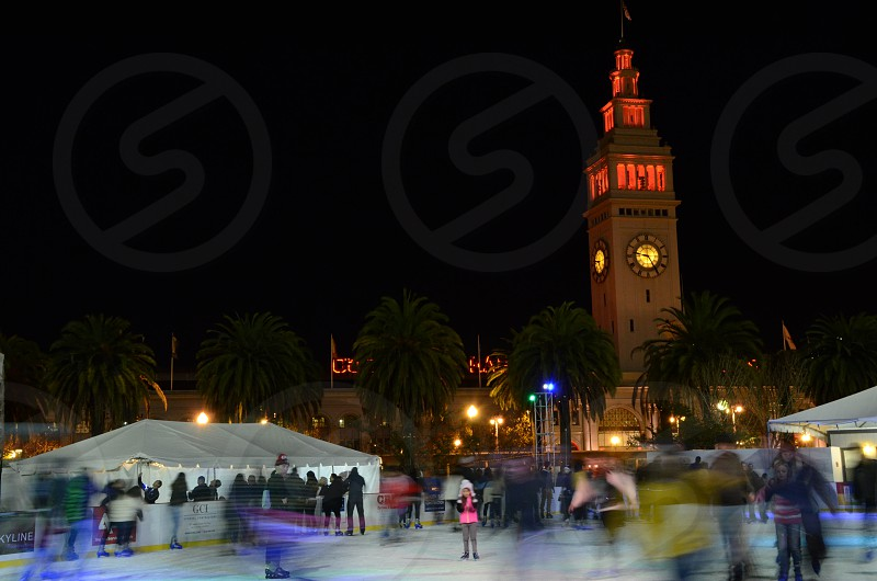 Ice skating in san francisco photo