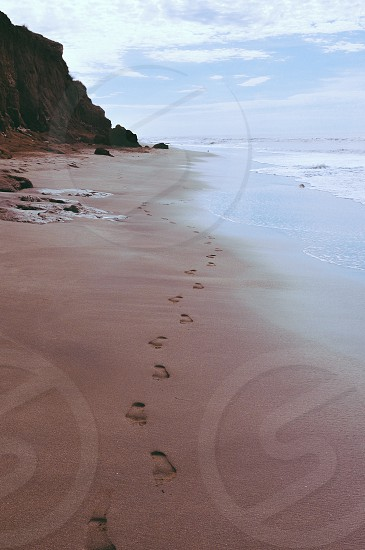 footprints in the sant photo