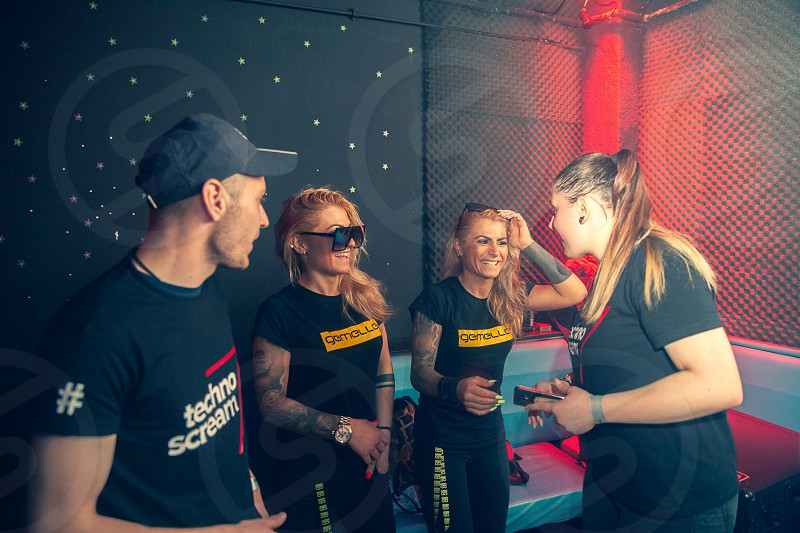 A techno-themed night out at one of the most popular clubbing locations in Zagreb Croatia. photo