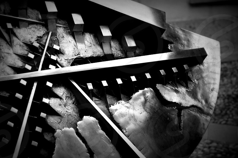 black and white close up macro abstract photo