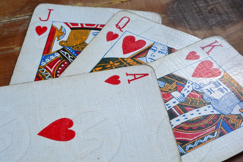 Playing cards Hearts photo