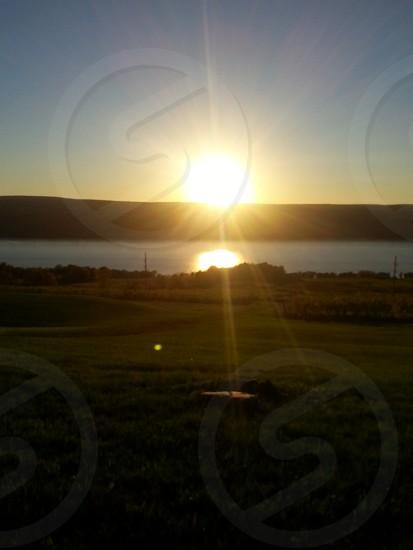 Sunset lake lake Seneca wine water photo