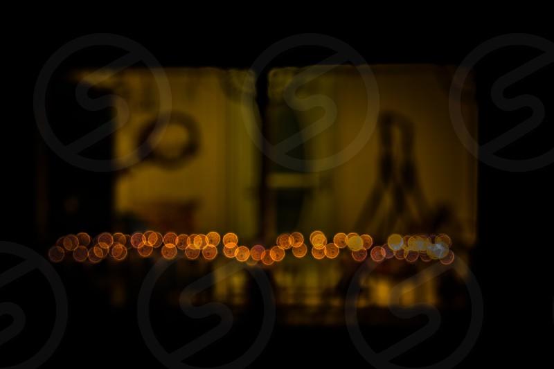 yellow and black lights photo