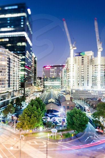 Melbourne CBD buildings architecture city skyline Ian Jones Photography tilt-shift canon Docklands photo