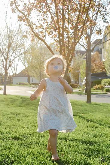 Summer toddler sun fade photo