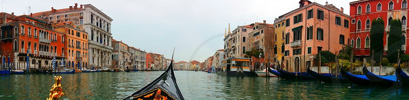 venice canal panoramic photo