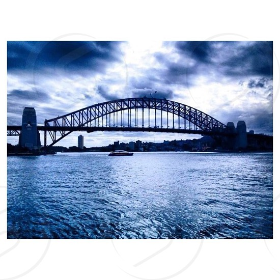 Stormy day above the Sydney Harbour Bridge photo
