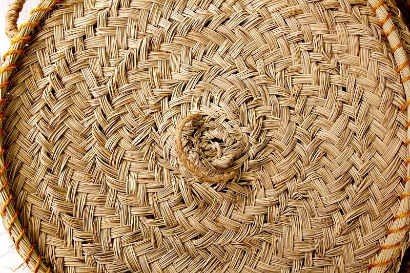 esparto round handcraft basketry circle Spain tradition photo