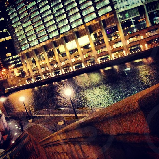 Chicago Waterfront at night photo