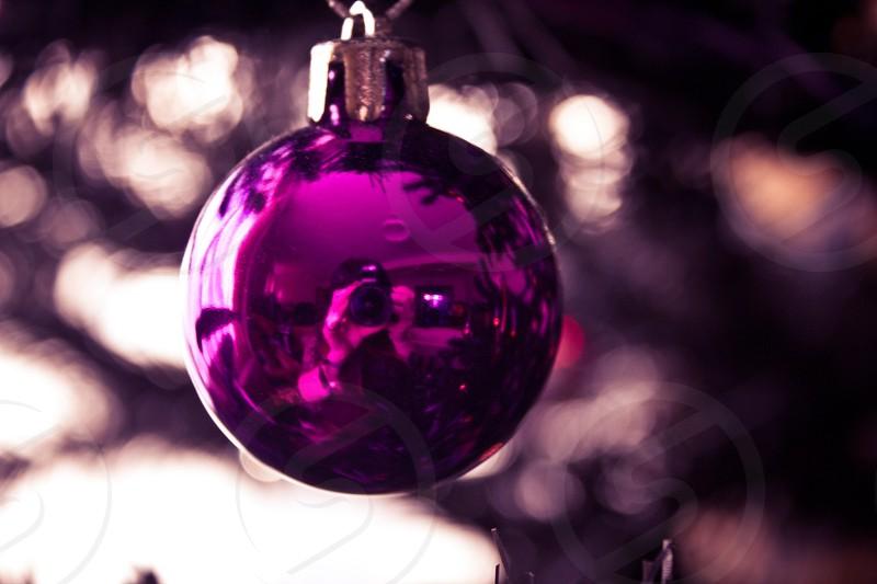Christmas decoration bauble reflection photo