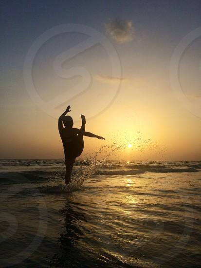 Splashing in Siesta Key photo