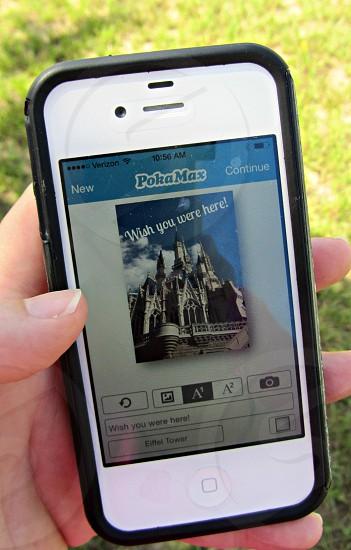 """postcard in progress """"castle-style"""" photo"""