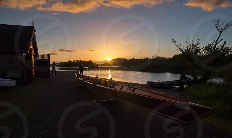 Boat boats lake Ireland  photo