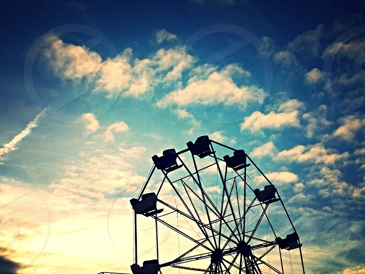 ferries wheel during golden hour photo