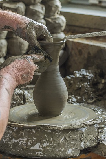 potter clay vase pot handcraft handmade art photo