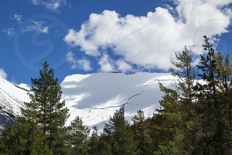 winter mountains landscape photo
