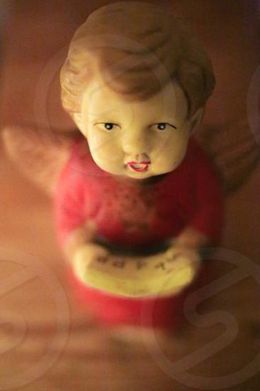 Christmas carols singing angel red child photo