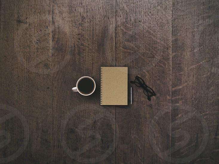 spiralbound tan notebook photo