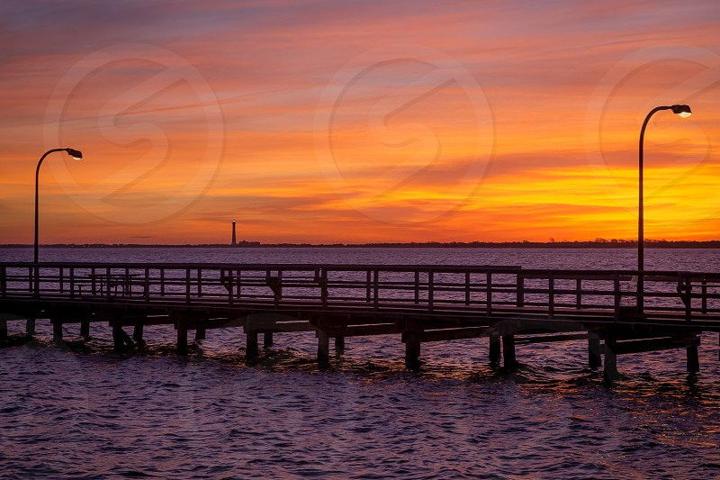 Sunrise over the Great South Bay Long Island NY photo