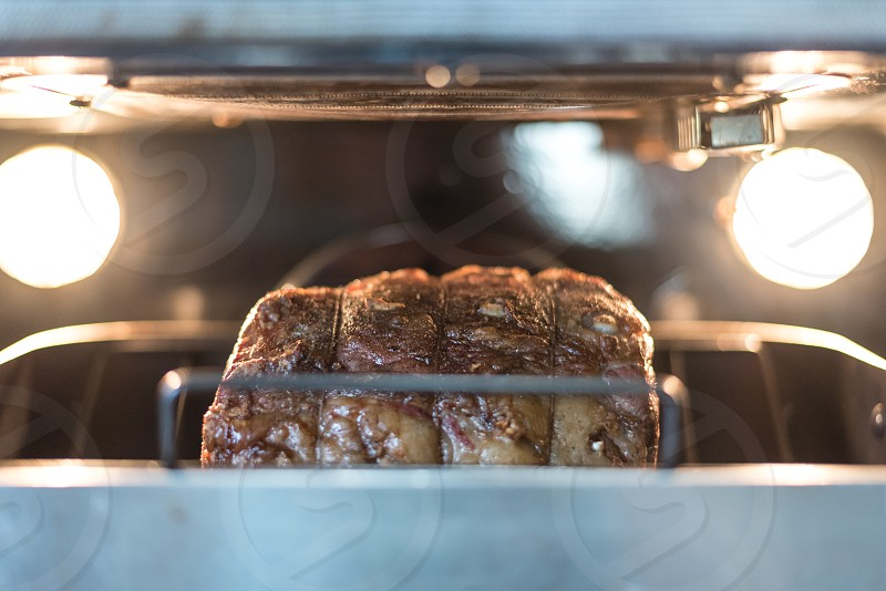 Prime rib in the oven photo