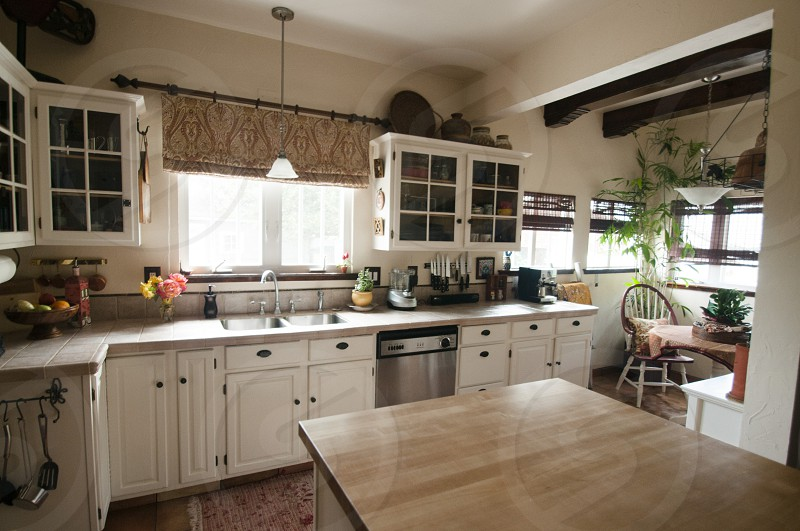 Kitchen constructed with all natural elements photo