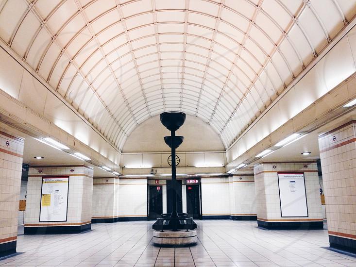empty subway station photo