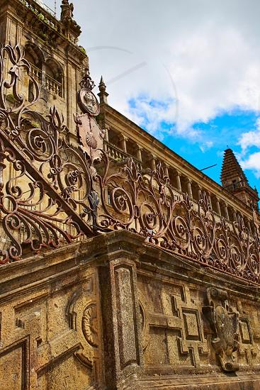 Santiago de Compostela Cathedral end of Saint James Way Plaza Obradoiro in Galicia Spain photo
