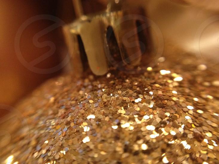 Gold ornament glitter photo