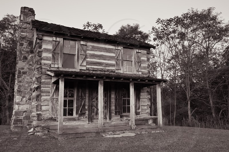 Kentucky log cabin Saunders Springs Nature Preserve Radcliff Ky. photo