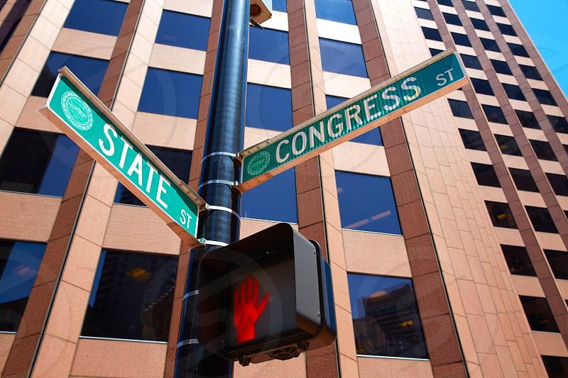 Boston State st and Congress street Massachusetts USA photo