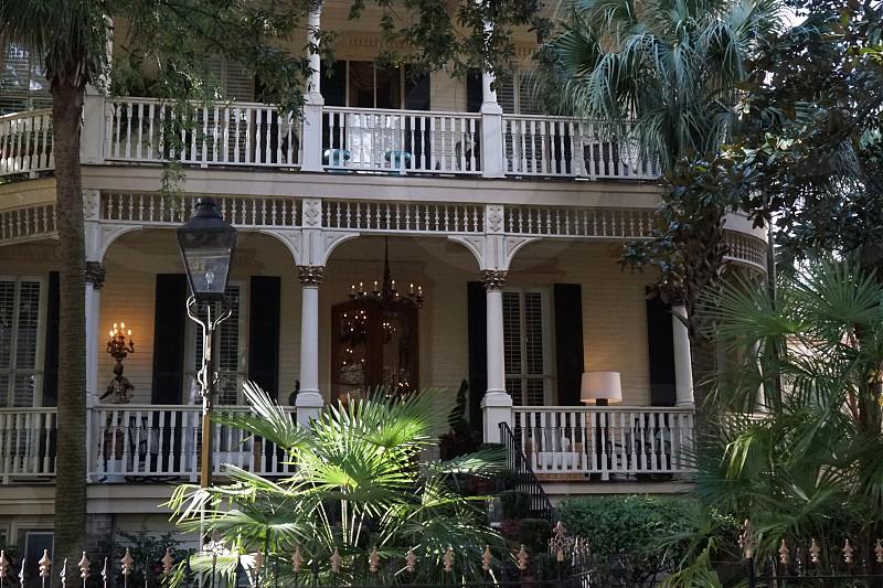 Historical area of Savannah Georgia photo