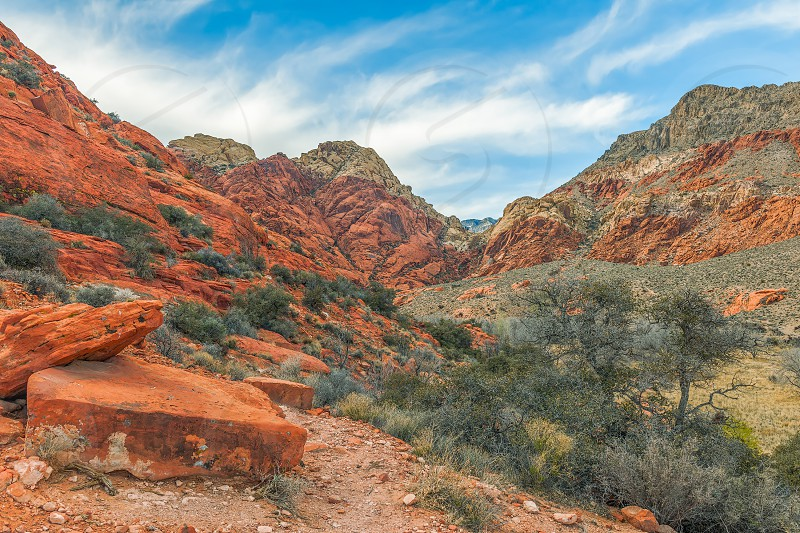 Red Rock Canyon National Conservation Area. Winter. Nevada. USA photo