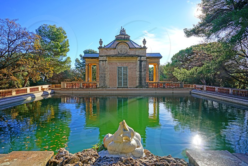 Parc del Laberint d'Horta in Barcelona Spain photo